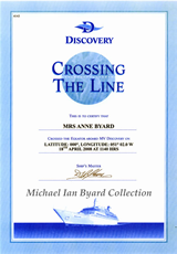 Anne's Crossing The Line Certificate