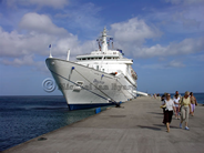 Discovery alongside at Grenada