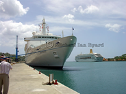 Discovery and Oriana at St Lucia