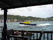 Grenada Pilot Boat from Cafe