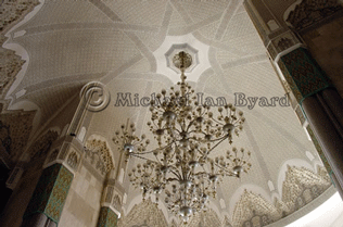 Hassan Mosque Ceiling detail
