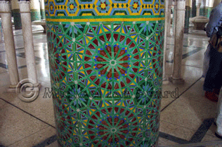 Hassan Mosque Decorated pillar