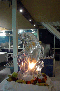 Ice Carving of a Dolphin