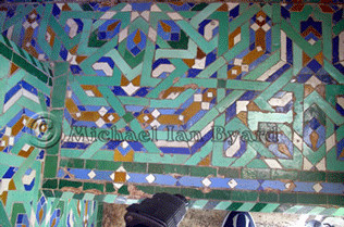 Hassan Mosque external wall decoration