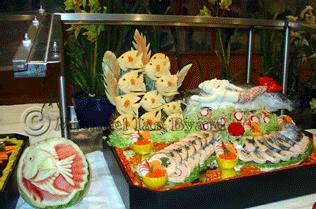 Buffet Fish Display