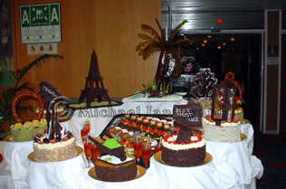 Gala Buffet Chocolate Cakes
