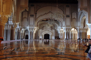 Hassan II Mosque polished floor