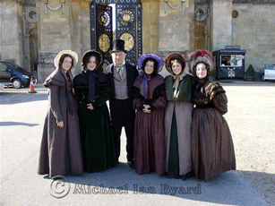 "Michael with ""Victorian"" Ladies"