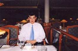 Edward in the Peninsular Dining Room of Oriana