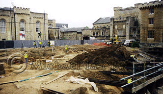 General view of Oxford Castle Site,