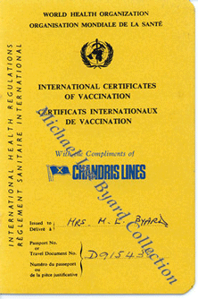 Vaccination Certificate, Chandris
