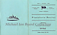 Cover of a Piano Recital programme