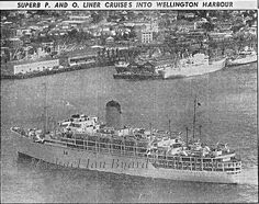 Arcadia entering Wellington Harbour