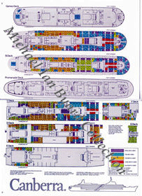 Canberra First and Tourist Deck Plans