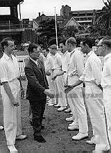 Lord Inchcape meeting the Melbourne Cricket Team 1958