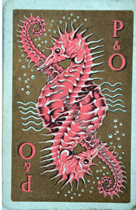 P and O Seahorse Playing Cards