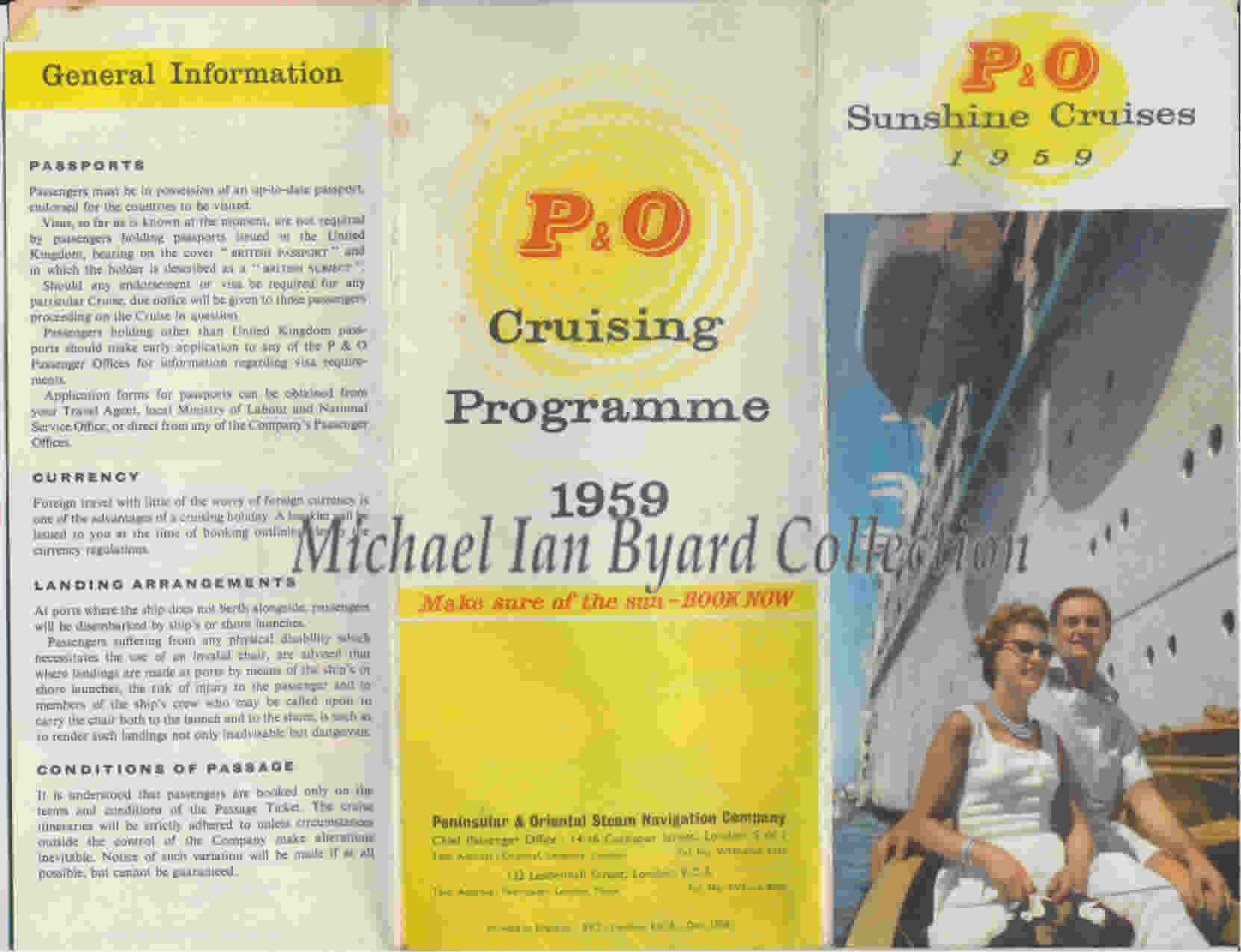 Summer Cruising Programme 1959