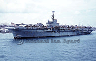 Royal Navy Carrier, HMS Albion at Aden, April 1965