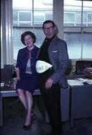 Harold Sharpe with Secretary Dawn, Xmas 1965