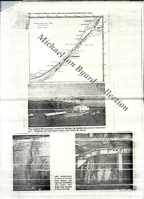 fourth page of warning letter with photos of damage to ships