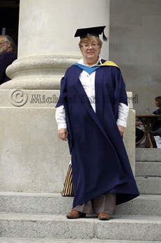 Anne outside Portsmouth Guildhall