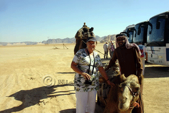 Anne with Camel and Owner