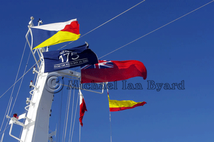 P and O's 175th Anniversary Year-Mastflags