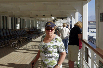 Anne at Aqaba waiting to go ashore