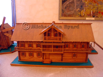 Wooden model of an early Sochi house