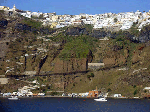 Santorini Port and Town