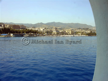 Leaving the port of Messina